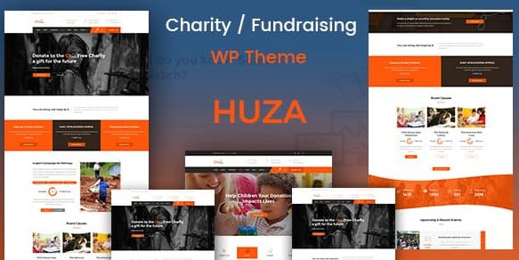 Huza v1.19 - Charity/Fundraising Responsive WordPress Theme
