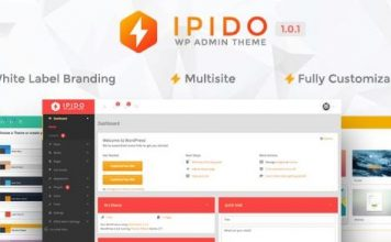 IPIDO v1.0.1 - White label WordPress Admin Theme