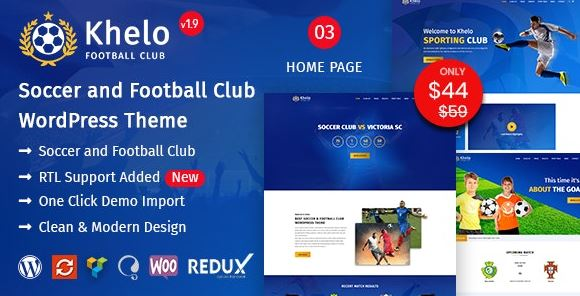 Khelo v2.7 - Soccer WordPress Theme