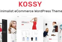 Kossy v1.24 - Minimalist eCommerce WordPress Theme
