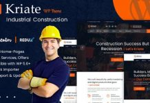 Kriate v1.0 - Industrial Construction Multipurpose WordPress Theme