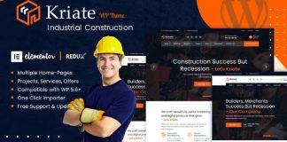 Kriate v1.0 - Industrial Construction Multipurpose WordPress Theme