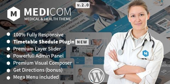 Medicom v3.0.8 - Medical & Health WordPress Theme