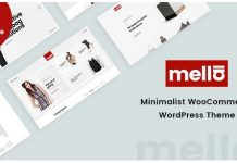 Mella v1.2.19 - Minimalist Ajax WooCommerce WordPress Theme