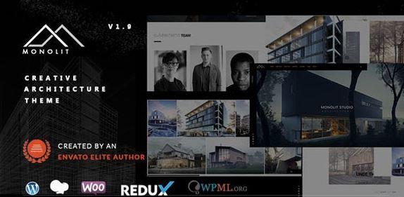 Monolit v2.0.1 - Responsive Architecture WordPress Theme
