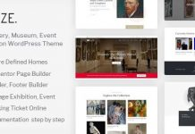 Muzze v1.3.0 - Museum Art Gallery Exhibition WordPress Theme