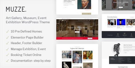 Muzze v1.3.0 - Museum Art Gallery Exhibition WordPress Theme
