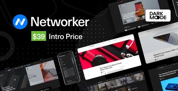 Networker v1.0.3 - Tech News WordPress Theme with Dark Mode Nulled