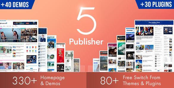 Publisher v7.8.0 - Newspaper Magazine AMP WordPress Theme