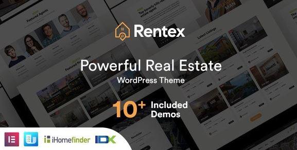 Rentex v1.7.0 - Real Estate WordPress Theme