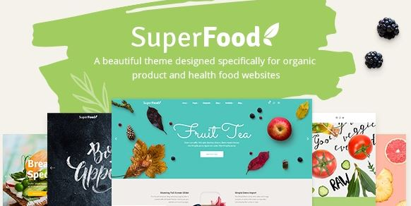 Superfood v1.3.1 - A Vibrant Theme for Organic Food and Health Products