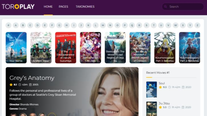 ToroPlay - Movie WordPress Theme