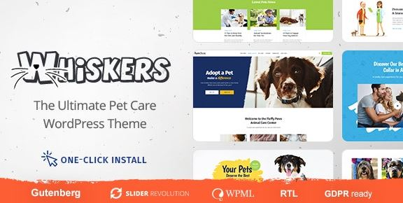 Whiskers v1.0.7 - Pets Store | Vet Clinic | Animal Adoption