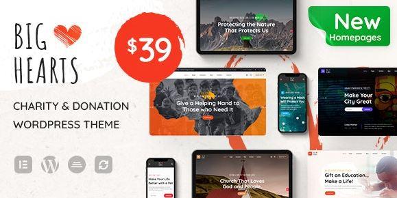 BigHearts - Charity & Donation WordPress Theme