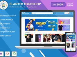 Blanter Tokoshop Blogger Template