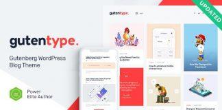 Gutentype | 100% Gutenberg WordPress Theme for Modern Blog v1.9.7 Nulled