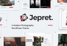 Jepret - Modern Photography WordPress Theme