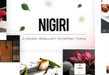 Nigiri - Restaurant WordPress Theme