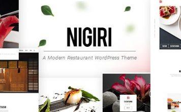 Nigiri - Restaurant WordPress Theme