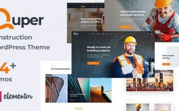 Quper - Construction and Architecture WordPress Theme
