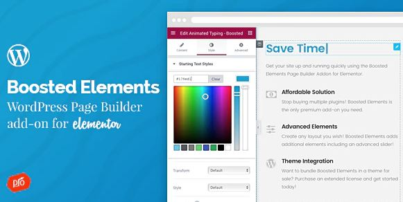 Boosted Elements - WordPress Page Builder Add-on for Elementor