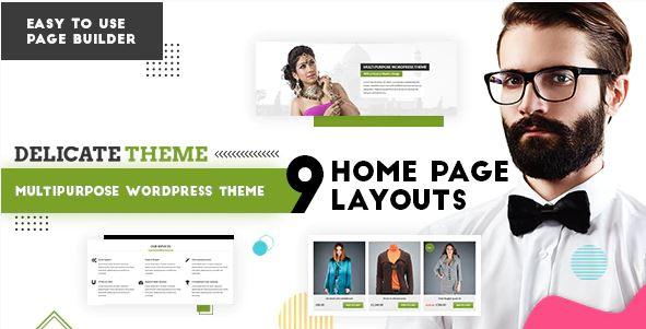 Delicate   Multipurpose WordPress Theme