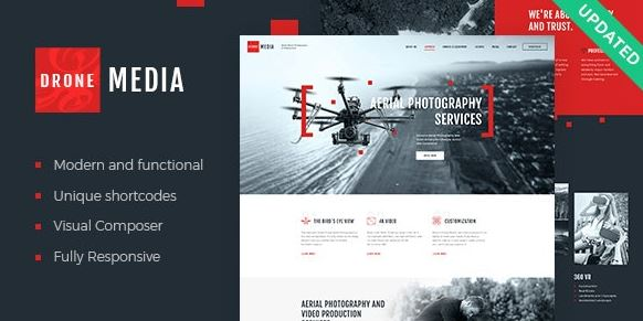 Drone Media | Aerial Photography & Videography WordPress Theme + RTL