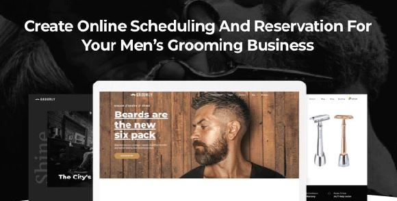 Groomly - Men's Grooming Scheduling & Reservation WordPress Theme