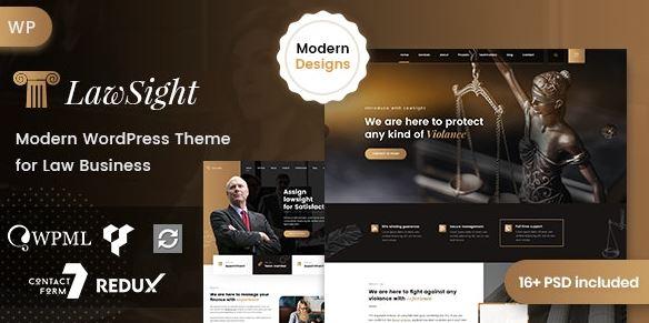 Lawsight - Law & Lawyer WordPress Theme