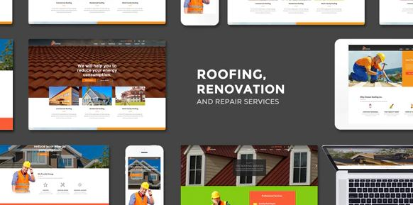 Roofing - Renovation & Repair Service WordPress Theme