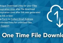 WP One Time File Download - Unique Link Generator WordPress Plugin